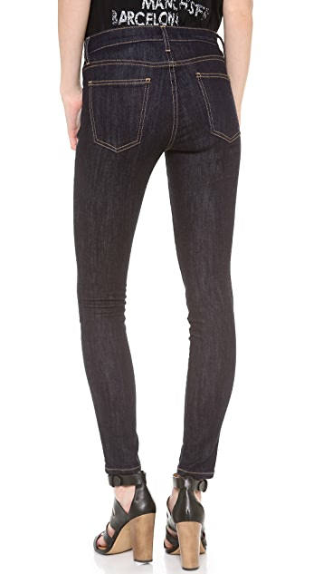 Current/Elliott The High Waist Ankle Skinny Jeans