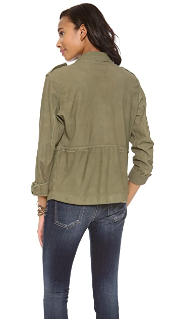 Current/Elliott The Leather Lone Soldier Jacket