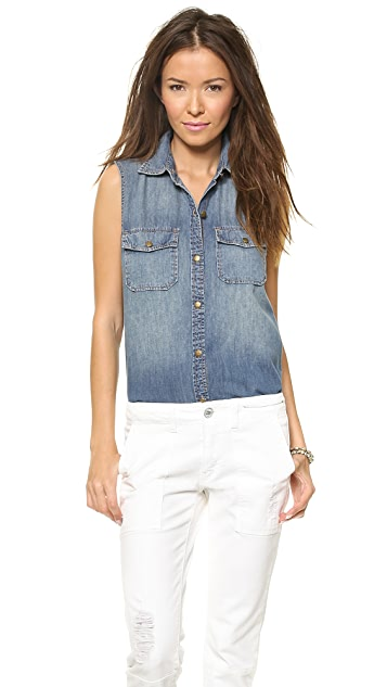 Current/Elliott The Sleeveless Perfect Shirt