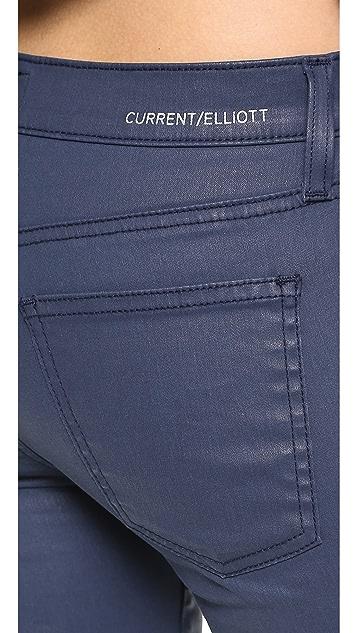 Current/Elliott The Soho Zip Stiletto Coated Jeans