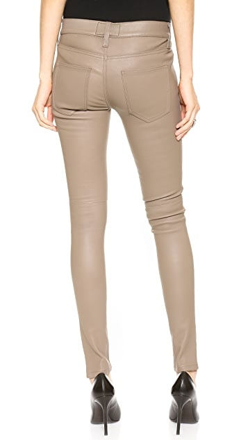 Current/Elliott The Ankle Skinny Stretch Leather Pants