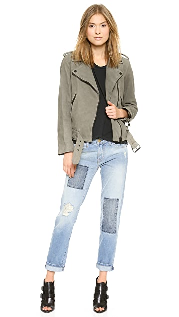 Current/Elliott The Leather Prospect Biker Jacket