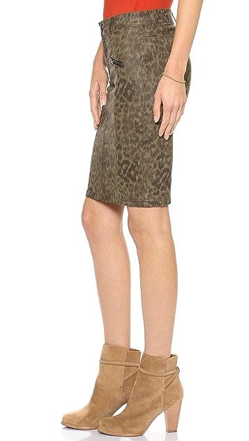 Current/Elliott The Soho Zip Stiletto Pencil Skirt