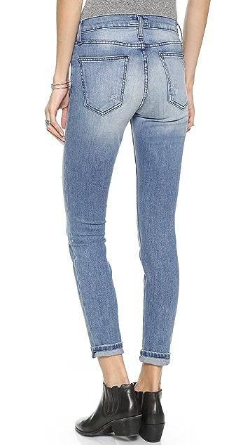 Current/Elliott The High Waist Ankle Skinny Jeans