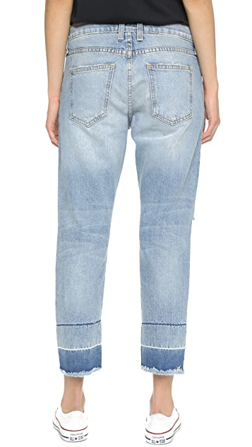 Current/Elliott The Fling Exposed Fly Jeans