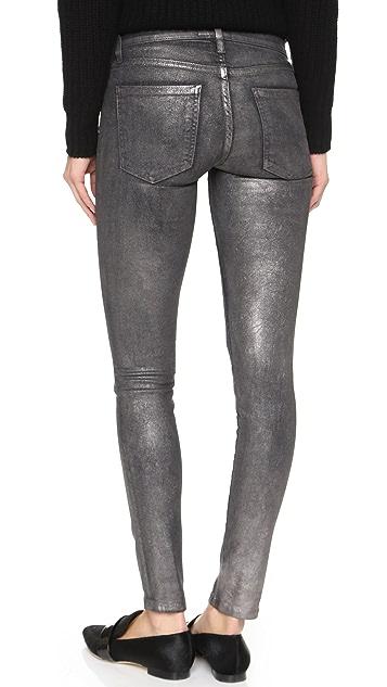 Current/Elliott The Metallic Ankle Skinny Jeans