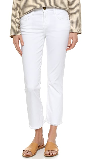 flared cropped jeans - White Current Elliott ZKIYahAdM
