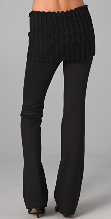 Cushnie Et Ochs Jersey Pants with Knit Waist