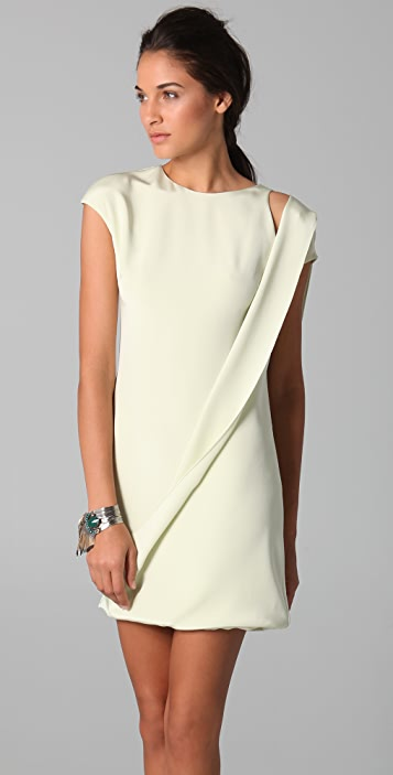 Cushnie Draped Side Dress