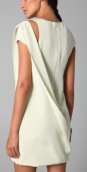 Cushnie Et Ochs Draped Side Dress