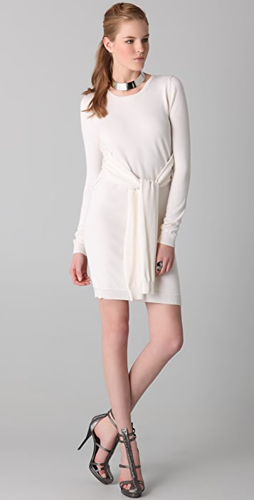 Cushnie Cashmere Sweater Dress with Waist Ties