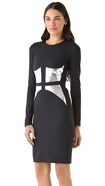 Cushnie Et Ochs Broken Mirror Dress