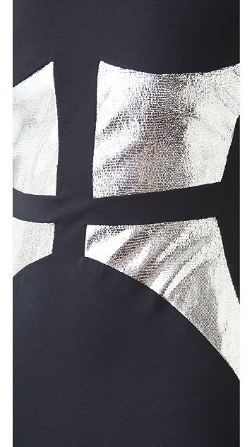 Cushnie Et Ochs Broken Mirror Dress