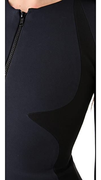 Cushnie Et Ochs Contour Zip Dress