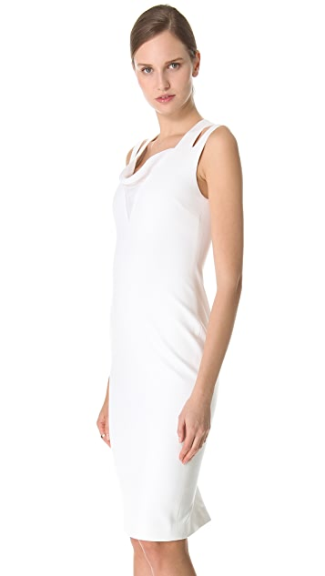 Cushnie Et Ochs Draped Cowl Sheath Dress