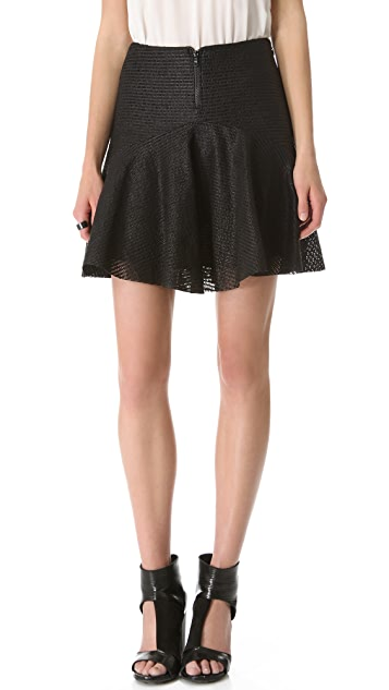 Cushnie Et Ochs Leather Skirt