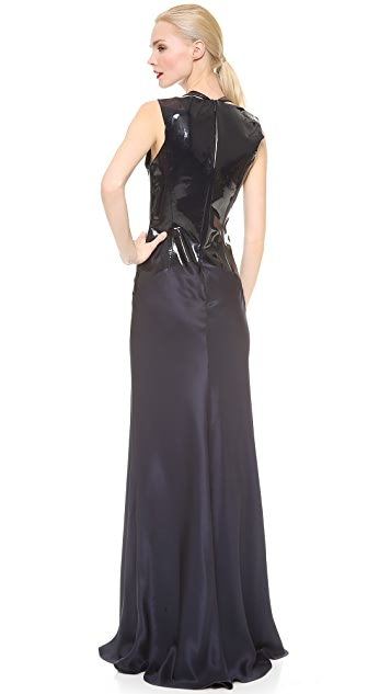Cushnie Et Ochs Patent Bodice Karlie Gown