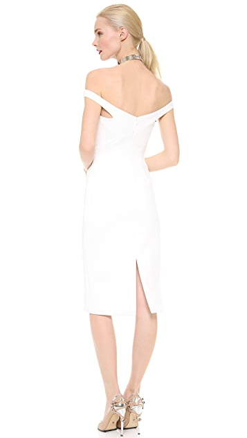 Cushnie Et Ochs Triangle Cutout Scuba Dress