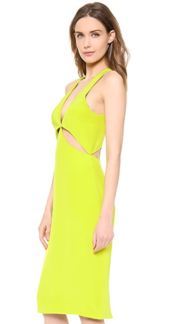 Cushnie Et Ochs Sleeveless Satin Dress