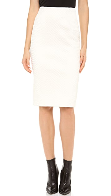Cushnie Et Ochs Fishnet Leather Pencil Skirt