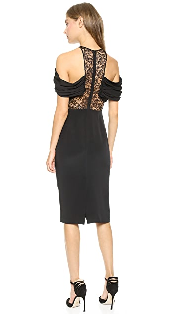 Cushnie Lace Inset Cocktail Dress