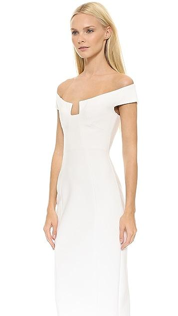 Cushnie Et Ochs Angular Neck Sheath Dress