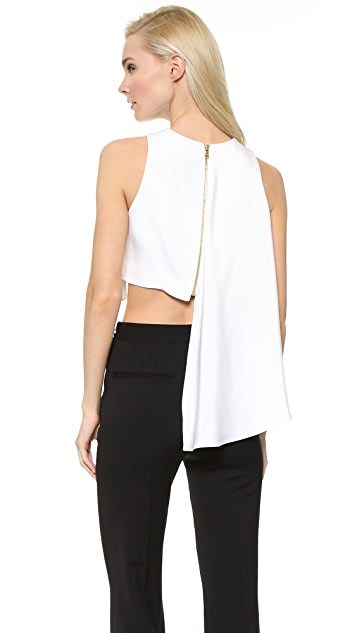 Cushnie Et Ochs Asymmetrical Crop Top