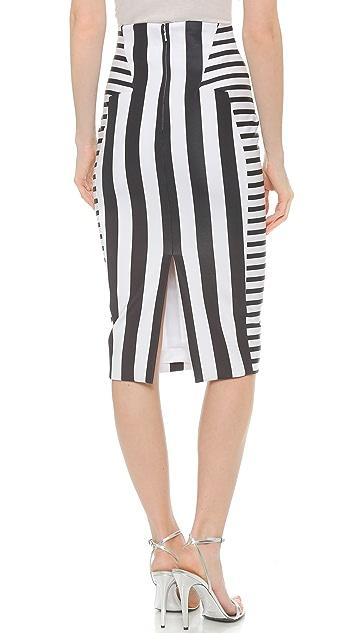 Cushnie Et Ochs Stripe Skirt