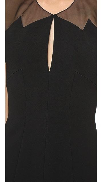 Cushnie Et Ochs Sheer Panel Dress