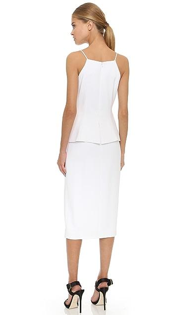 Cushnie Коктейльное платье с лифом в стиле жилета