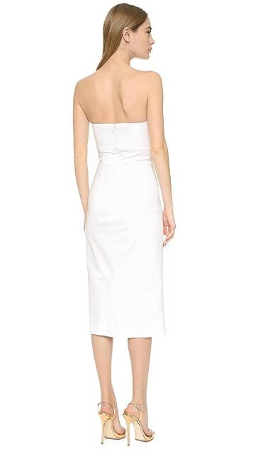 Cushnie Et Ochs Bow Front Strapless Dress