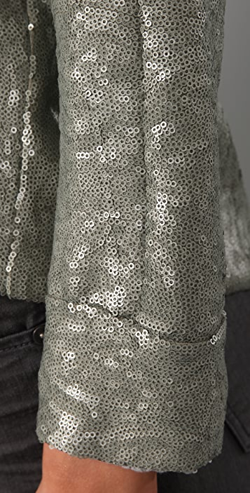Cut25 by Yigal Azrouel Sequin Long Sleeve Top