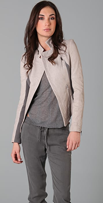 Cut25 by Yigal Azrouel Two Tone Leather Jacket