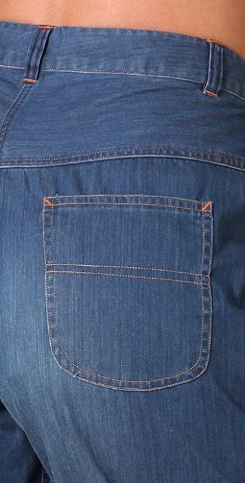 Cut25 by Yigal Azrouel High Waisted Denim Shorts
