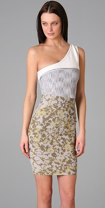 Cut25 by Yigal Azrouel One Shoulder Knit Dress