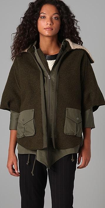 Cut25 by Yigal Azrouel Convertible Drape Back Coat