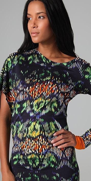 Cut25 by Yigal Azrouel Techno Tribal Print Asymmetrical Dress