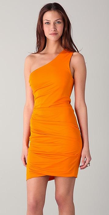Cut25 by Yigal Azrouel Matte Jersey One Shoulder Dress