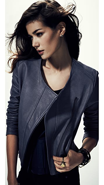 Cut25 by Yigal Azrouel Hand Dyed Leather Jacket