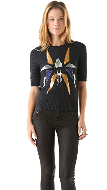 Cut25 by Yigal Azrouel Embellished Sweater