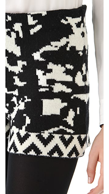 Cut25 by Yigal Azrouel Intarsia Knit Shorts