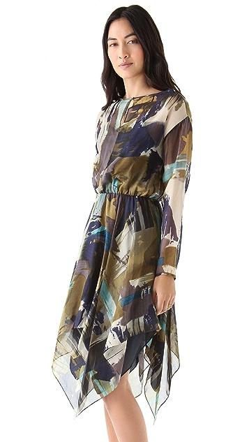 Cut25 by Yigal Azrouel Watercolor Chiffon Dress