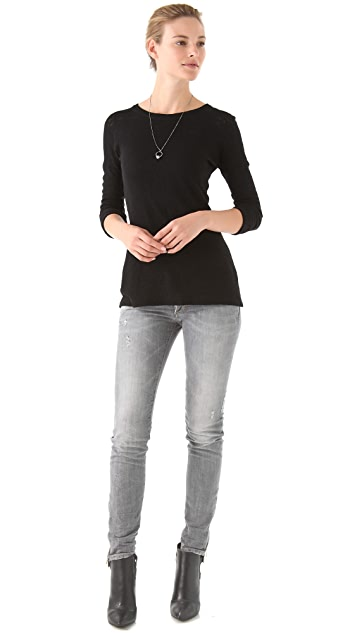 Cut25 by Yigal Azrouel Spiderweb Lace Sweater