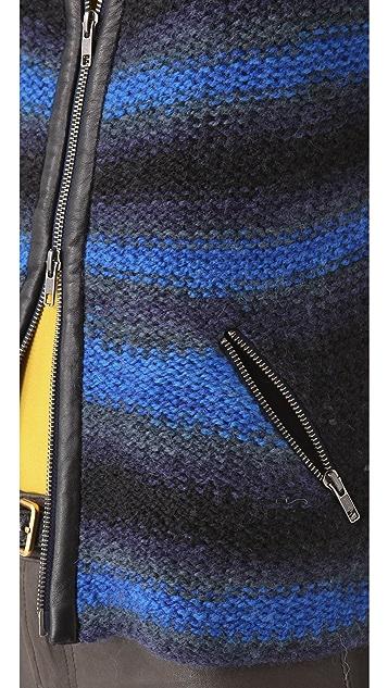 Cut25 by Yigal Azrouel Gradient Stripe Jacket