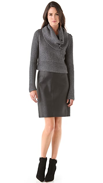 Cut25 by Yigal Azrouel Chunky Waffle Knit Sweater