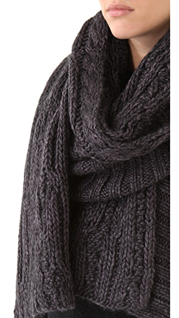 Cut25 by Yigal Azrouel Chunky Cable Scarf