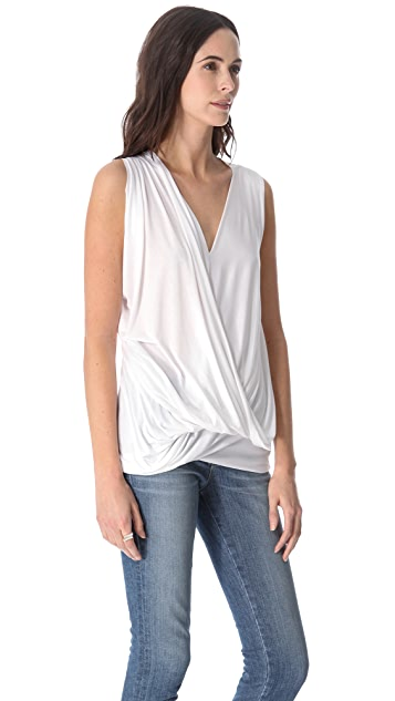 Cut25 by Yigal Azrouel Draped Modal Top