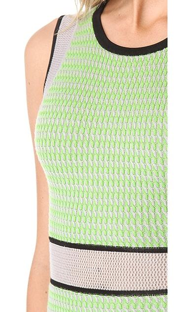 Cut25 by Yigal Azrouel Mesh Techno Knit Dress