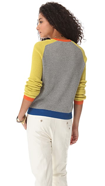 Cut25 by Yigal Azrouel Waffle Knit Block Sweater