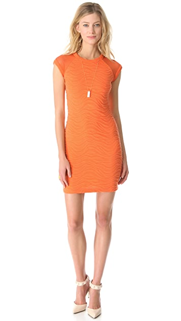 Cut25 by Yigal Azrouel Diagonal Texture Knit Dress